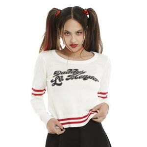 Hot Topic Suicide Squad Harley Quinn Sweater XL
